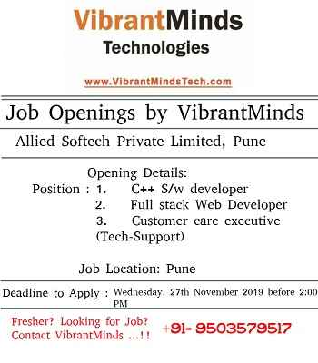 Vibrantminds Fresher Job Openings Offcampus Recruitment Updates Wlakin Drives Pool Campus Recruitment Drives Placements